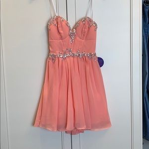 Windsor Peach special occasion dress